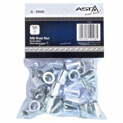 Заклепки резьбовые М8, 50 шт ASTA A-RM8